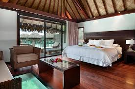 island bedroom with a south pacific island influence