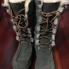 ugg boots womens tularosa chestnut lace up 61 ugg shoes ugg tularosa lace up leather boots size 10