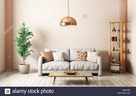 Wohnzimmer Einrichten Mit Schwarzem Sofa Contemporary Lounge Gray Sofa Wall Stockfotos U0026 Contemporary