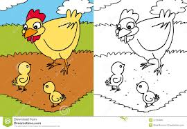 coloring book hen and royalty free stock image image
