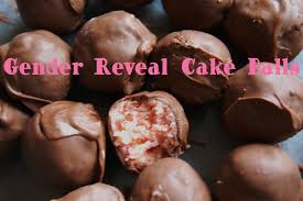 gender reveal cake balls wine glue