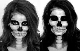 Skeleton Halloween Costume by Cappuccino And Fashion Skeleton Halloween Makeup Tutorial