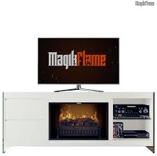 apollo white media center electric fireplace wall mantel tv stand