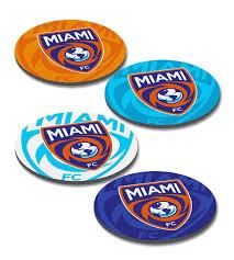 miami fc 4pc logo drink coaster set miami fc