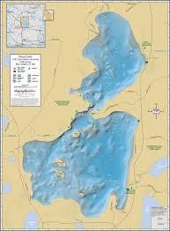 Wisconsin Lake Maps by Trout Lake Wall Map