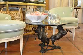 iron horse table base vintage iron horse base coffee table mecox gardens