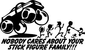 hunting truck decals anti stick figure family decal sticker funny bumper sticker