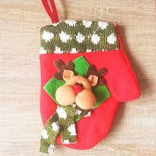 Knitted Reindeer Christmas Decorations by Christmas Cute Decoration Christmas Reindeer Gloves Decoration