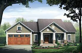 one craftsman home plans single house plans with porches type one style one