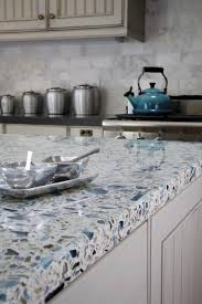 material choices for kitchen countertops pros and cons at hometren recycled glass and white concrete kitchen countertop