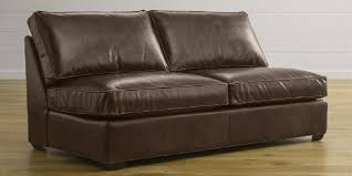 Leather Full Sleeper Sofa Davis Leather Armless Full Sleeper Sofa With Air Mattress Crate