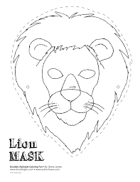 lion mask craft lion mask templates search taste of the moon