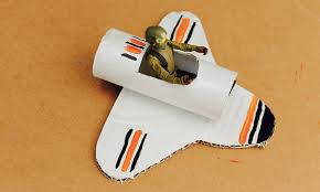easy craft how to make a toilet roll space shuttle youtube
