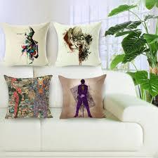 taie d oreiller pour canapé de noël harley quinn et joker coussin couvre coton sequin taie d