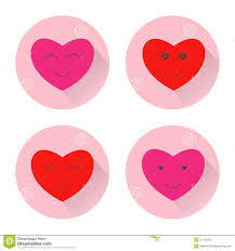 Pink Flat Color Pink Heart With Long Shadow Flat Design Icon Royalty Free Stock