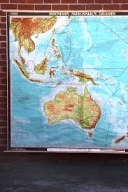 Pull Down World Map by Empirical Style Vintage Interiors Design