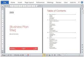 business plan free template word bussines plan template 17