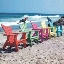 Two Beach Chairs Wonderful Colorful Adirondack Chairs On Beach In Inspiration