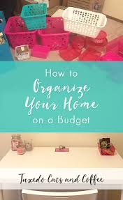 how to organize your home on a budget dollar stores organizing