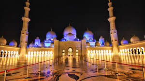 Arab Hd by Sheikh Zayed Mosque Overnight Abu Dhabi United Arab Emirates Hd