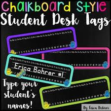 Desk Name Tags by This Download Contains A Pdf File And A Powerpoint File For