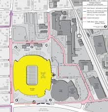 rutgers football parking map road closures and parking restrictions with u m football