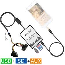 auto car usb sd aux adapter audio interface mp3 converter for