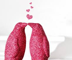 Penguin Baby Shower Decorations Two Kissing Penguins Glitter Wedding Cake Topper Or Pink