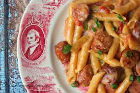 Pasta Recipes by One Pan Cheesy Smoked Sausage U0026 Pasta Recipe Budget Savvy Diva