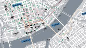 Street Map Of Downtown Chicago by Then And Now An Interactive Look At Downtown Cincinnati U0027s Past