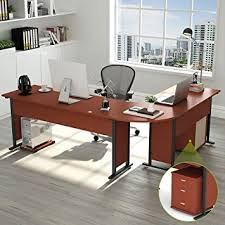Modern L Desk 87 Tribesigns Largest Modern L Shaped Desk With