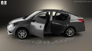 nissan versa compact interior 360 view of nissan versa sense with hq interior 2015 3d model