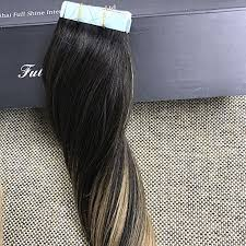 glue extensions shine high quality peruvian balayge remy hair glue in real