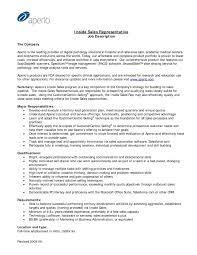 inside sales sample resume inside sales representative resume