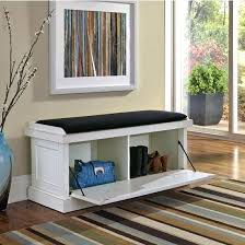entryway bench with baskets and cushions winsome entryway storage bench with baskets portraitsofamachine info