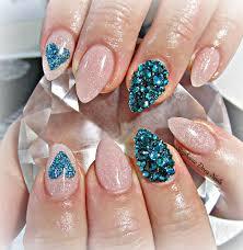 teal heart acrylic nails fmag com