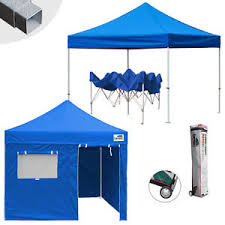 Ez Up Awnings Commercial Ez Pop Up Canopy 10x10 Outdoor Patio Party Shade Tent W