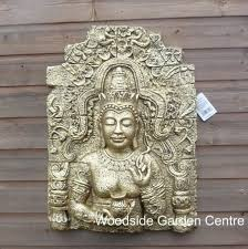 enigma gold cham buddha plaque home or garden ornament woodside