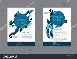 Document Cover Sheet Template by Corporate Brochure Document Cover Page Presentation Stock Vector