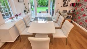 white dining room table seats 8 assi white and grey gloss extending dining table dining garden