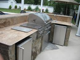 outdoor kitchen islands kitchen modern contemporary outdoor kitchen idea with brown brick
