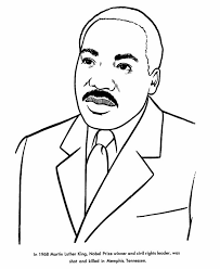 Martin Luther King Jr Coloring Page From Usa Printables Free Us Mlk Coloring Pages