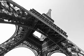 black and white eiffel tower mural murals wallpaper