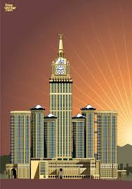 abraj al bait abraj al bait hotel clock tower vector free download