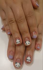 best 25 panda bear nails ideas on pinterest panda nail art