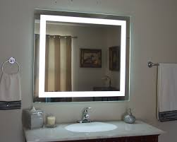 bathroom lighted beauty mirror with lighted mirror vanity with