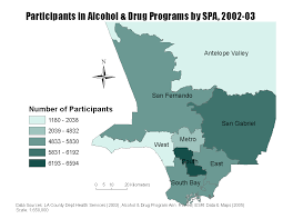 Map Of West Los Angeles by The Social Geography Of Drug Use In Metropolitan Los Angeles
