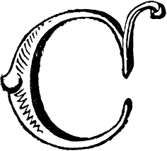 decorative letter c clipart etc