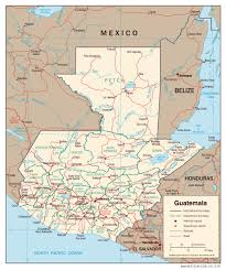 geographical map of guatemala detailed political map of guatemala guatemala detailed political