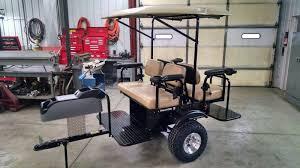custom built 4 person golf cart trailer pull behind tag a long